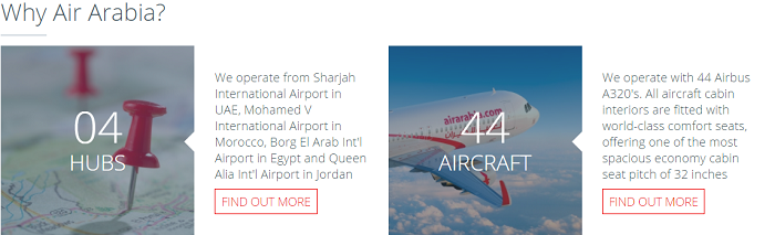 Reasons to fly with Air Arabia
