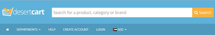 Desert Cart's main page