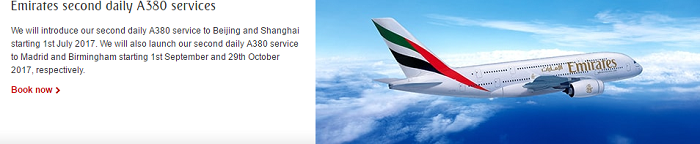 Fly with Emirates