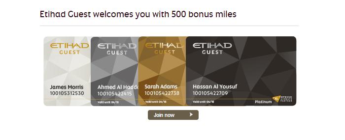 Etihad Airways' Guest club