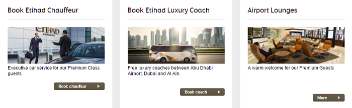 Etihad Airways' services