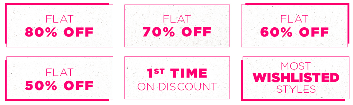Offers available at Jabong