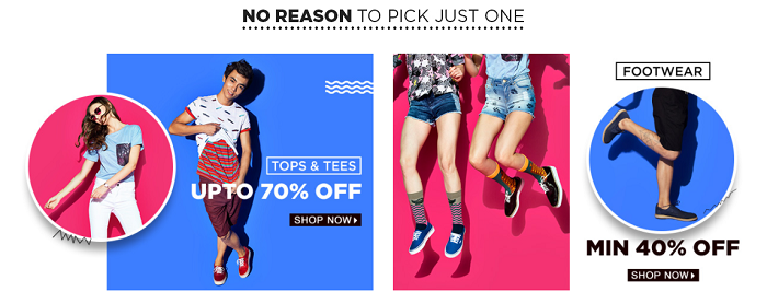 Pick your style from Jabong.com