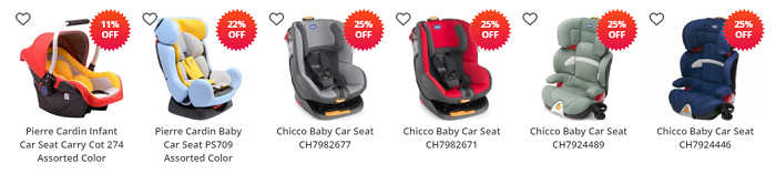Baby car seats at Lulu