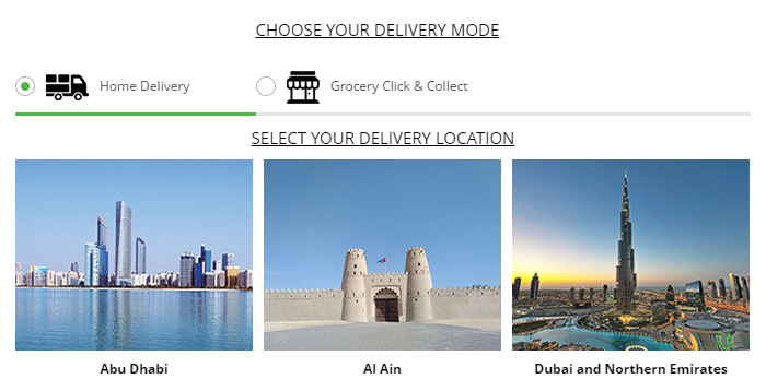 Choice of delivery modes at Lulu Webstore