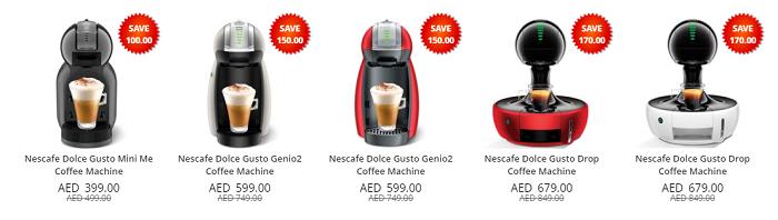 Coffee machines at Lulu