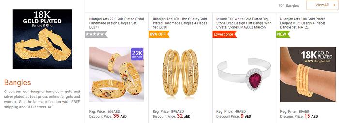 Awok's range of jewelry