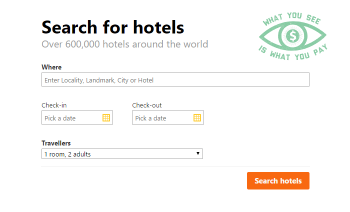 Cleartrip's hotel booking process