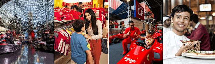 Enjoy the Ferrari World experience