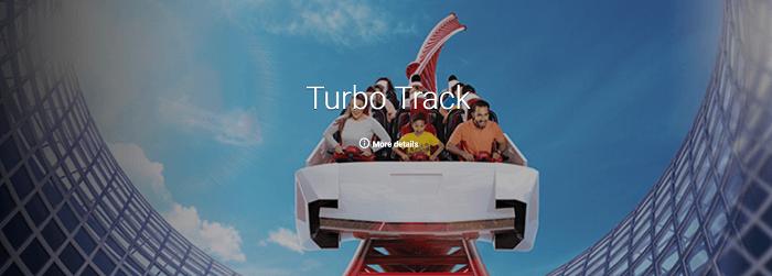 The turbo race at Ferrari World