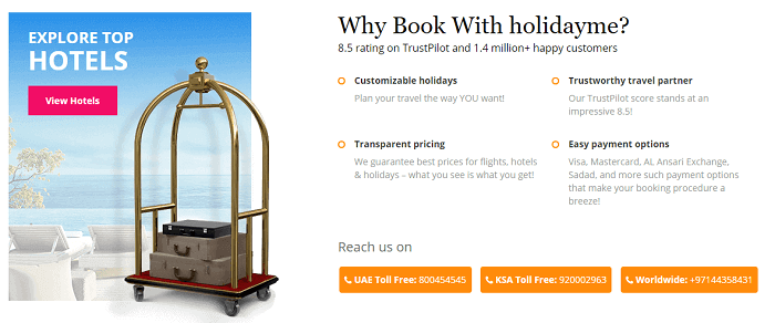 Why book via Holidayme?