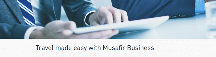 Business travel with Musafir