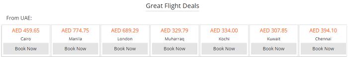Flight deals at Rehlat
