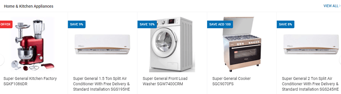 Home decor and appliances at Sharaf DG