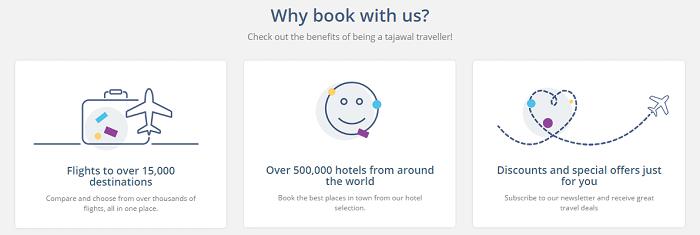 Why book with Tajawal?