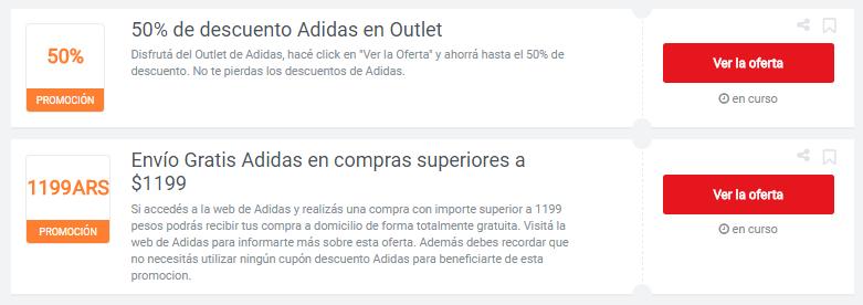 cupones Adidas