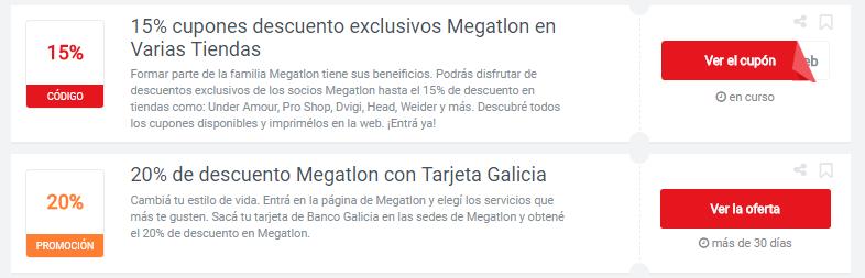 cupones Megatlon