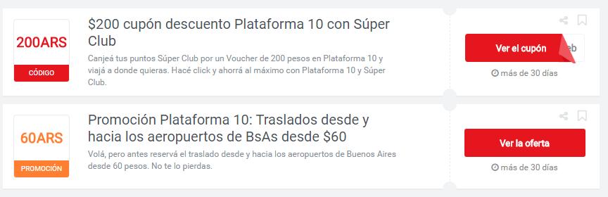 cupones Plataforma10