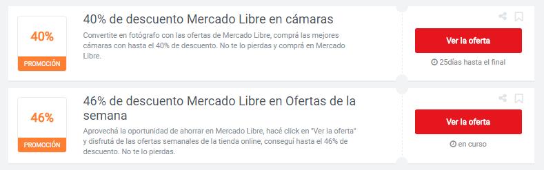 cupones Mercado Libre