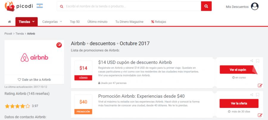 ofertas de airbnb