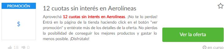 cupones Aerolíneas Argentinas
