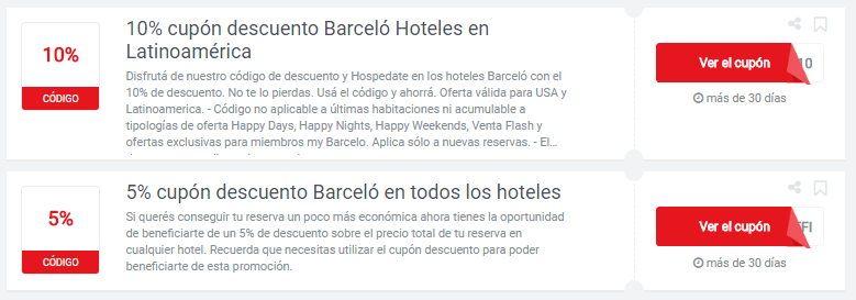 cupones Barceló