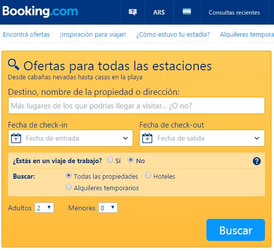 ofertas Booking.com