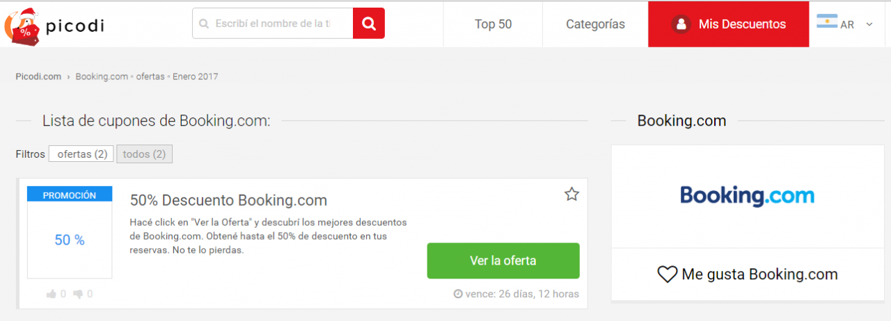 cupones Booking.com