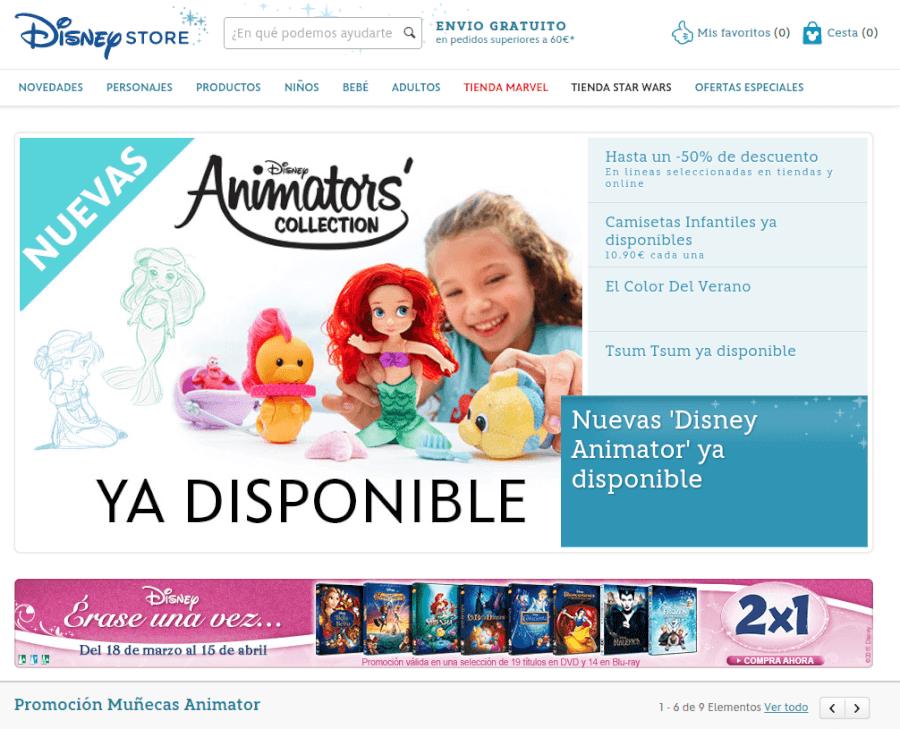 tienda oficial de Disney Store