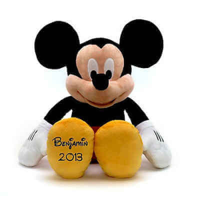 Peluche me Mickey Mouse personalizado