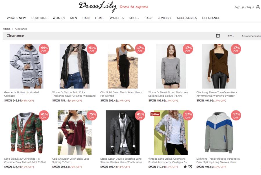 oferta Dresslily