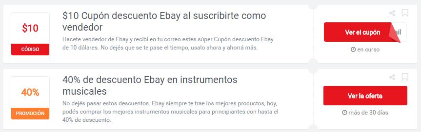 cupones  Ebay