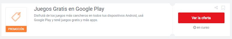 cupones Google Play