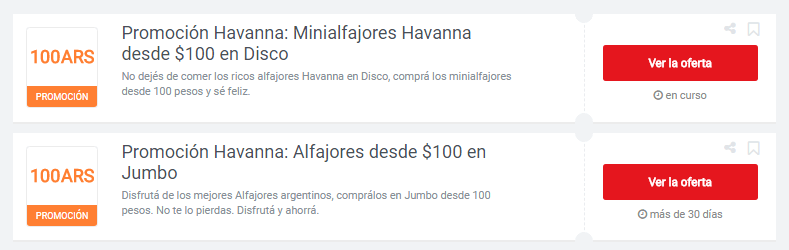 cupones Havanna