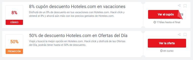 cupones Hoteles.com