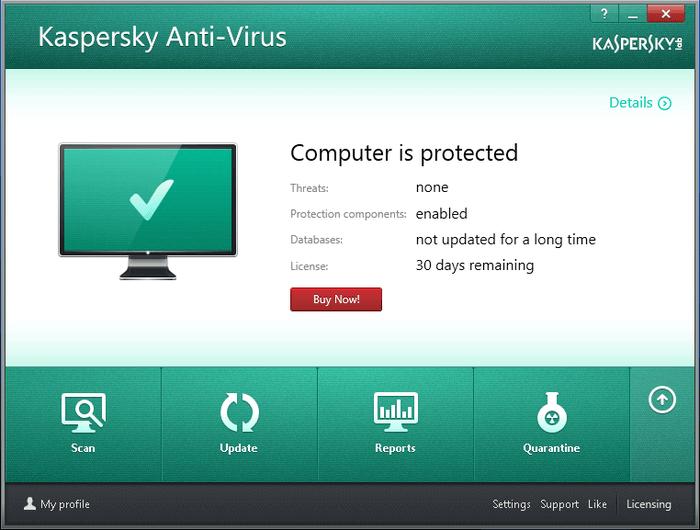 Mejor protección antivirus y firewall con Kaspersky