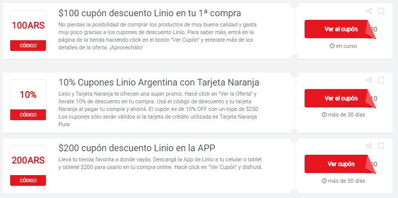 cupones LInio