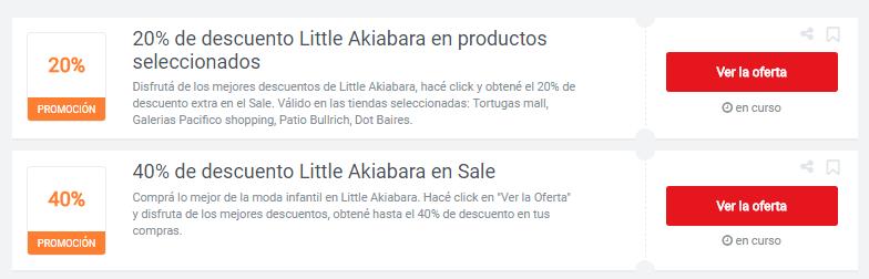 cupones little akiabara