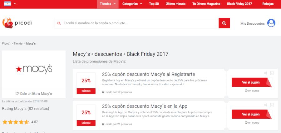 Macy's ofertas