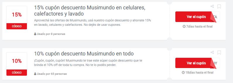 cupones Musimundo