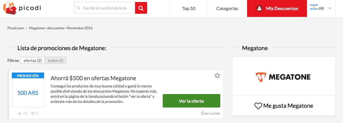cupones Megatone