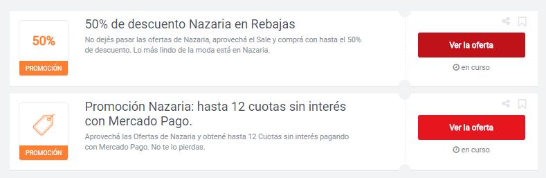 cupones Nazaria