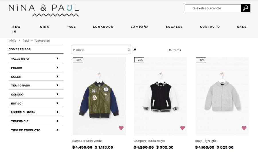ofertas Nina&Paul
