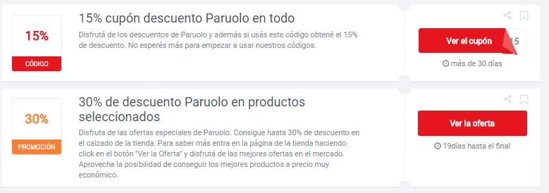 cupones Paruolo