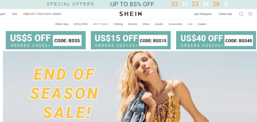 ofertas Shein