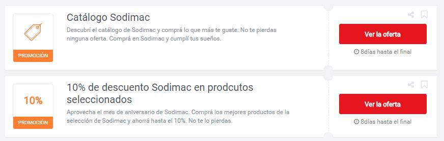 cupones Sodimac