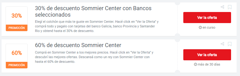 cupones Sommier Center