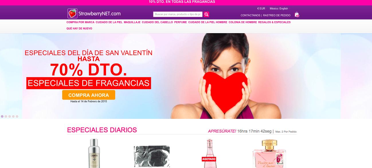 Entra en la página web de Strawberrynet y aprovecha los descuentos