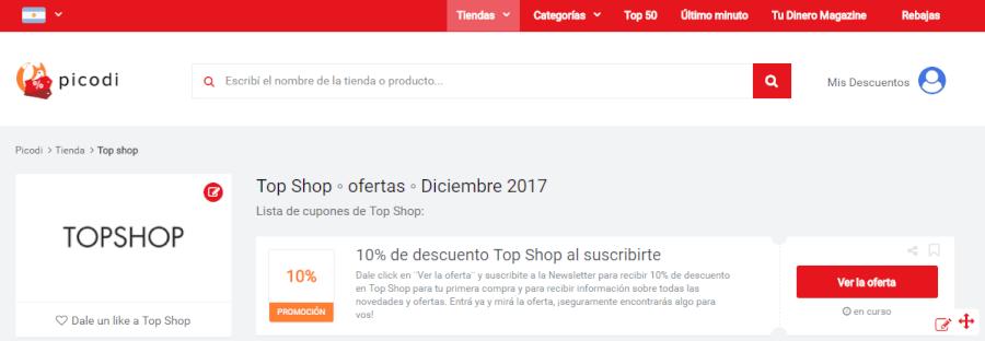 topshop ofertas