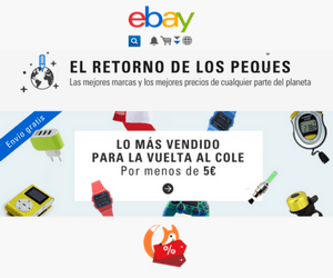 Vuelta al cole en Ebay